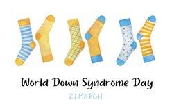 'Projeto da bandeira do dia de Síndrome de Down do mundo ' ilustração stock