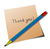 'thank you' message Royalty Free Stock Photos