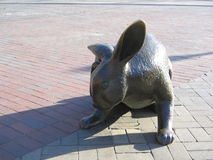 'Tortoise e a escultura de Hare', quadrado de Copley, Boston, Massachusetts, EUA Imagem de Stock Royalty Free