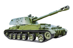 152‑mm self-propelled howitzer 2S3. Soviet 152‑mm self-propelled howitzer 2S3 acacia made in 1971.  on white background Royalty Free Stock Images