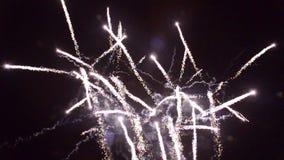 1280x720 artifice fireworks pyrotechnie france stock footage