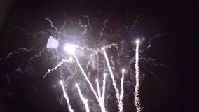 1280x720 artifice fireworks pyrotechnie france stock video footage