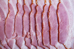 bacon (ham, sausage, salmon) Stock Photo