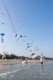 Cha-am International Kite Festival 2015 Thailand. Stock Photography