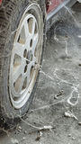 80�s tire among cobwebs Royalty Free Stock Photos