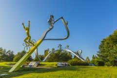 † tour de france w Pyrenees† rzeźbie obraz stock