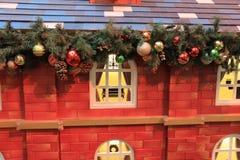 ……Christmas tło z Bożenarodzeniową dekoracją Zdjęcie Stock