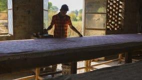 € «декабрь 2016 ДЖАЙПУРА, Раджастхана, Индии: Печатание блока для Texti Стоковое Изображение RF