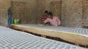 € «декабрь 2016 ДЖАЙПУРА, Раджастхана, Индии: Печатание блока для Texti Стоковое Изображение
