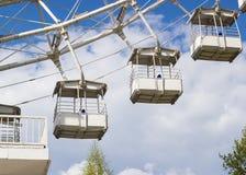 € «май 2016 МОСКВЫ, РОССИИ: Ferris катит внутри парк Izmailovsky Стоковое Изображение