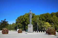€ «17-ое августа 2016 ОСЛО, НОРВЕГИИ: Статуя короля Haakon VII из n Стоковое фото RF