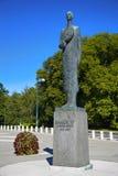 € «17-ое августа 2016 ОСЛО, НОРВЕГИИ: Статуя короля Haakon VII из n Стоковые Изображения RF