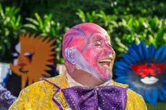 € «26-ое апреля 2014 ВИКТОРИИ, СЕЙШЕЛЬСКИХ ОСТРОВОВ: Клоун от Маврикия Стоковые Изображения RF