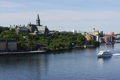 € «16-ое июня 2017 СТОКГОЛЬМА, ШВЕЦИИ: Взгляд цента Стокгольма Стоковое Изображение RF