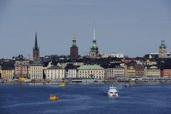 € «16-ое июня 2017 СТОКГОЛЬМА, ШВЕЦИИ: Взгляд цента Стокгольма Стоковая Фотография RF