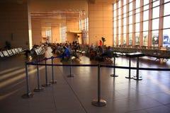 € «12-ое июня Sharm El Sheikh, ЕГИПТА: зал ожидания на авиапорте 12-ого июня 2015 Стоковые Изображения