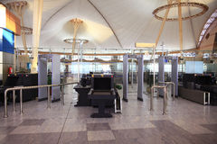 € «12-ое июня Sharm El Sheikh, ЕГИПТА: зал ожидания на авиапорте 12-ого июня 2015 Стоковое Изображение