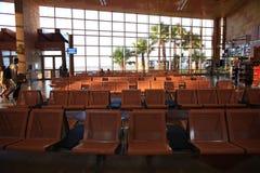 € «12-ое июня Sharm El Sheikh, ЕГИПТА: зал ожидания на авиапорте 12-ого июня 2015 Стоковое Фото