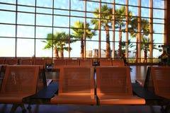 € «12-ое июня Sharm El Sheikh, ЕГИПТА: зал ожидания на авиапорте Стоковое Изображение