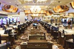 € «1-ое октября Лас-Вегас, Невады: Интерьер одной из гостиниц & зал казино в Лас-Вегас в 1-ое октября 2013, США Стоковые Фото