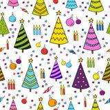 € предпосылки картины рождества иллюстрация безшовного « Стоковая Фотография RF
