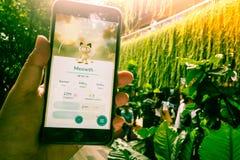 """€ """"agosto 12,2016 de BANGUECOQUE, TAILÂNDIA: Pokemon vai o jogo móvel app Foto de Stock"""