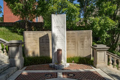 "€ ""Lynchburg do monumento da guerra do vietname, Virgínia, EUA Fotos de Stock"