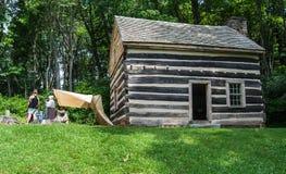 """€ """"Ridge Parkway azul, Virginia, los E.E.U.U. de Reenactors de la guerra civil Foto de archivo libre de regalías"""