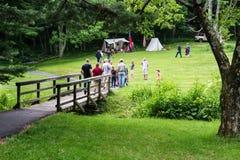 """€ """"Ridge Parkway azul, Virginia, los E.E.U.U. del acampamento de la guerra civil Imágenes de archivo libres de regalías"""