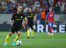 """€ """"STEAUA BUCARESTE da QUALIFICAÇÃO da LIGA de CAMPEÕES de UEFA contra Manchester City Imagem de Stock"""