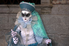 """€ """"Venezia - carnevale dell'Italia - maschera gentile blu Immagine Stock"""