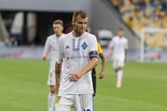 """€ """"Young Boys de Kyiv do dínamo do fósforo de futebol da liga dos campeões, julho Fotografia de Stock Royalty Free"""