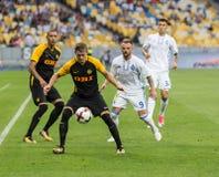 """€ """"Young Boys de Kyiv do dínamo do fósforo de futebol da liga dos campeões, julho Imagem de Stock Royalty Free"""
