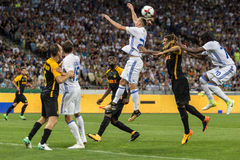 """€ """"Young Boys de Kyiv do dínamo do fósforo de futebol da liga dos campeões, julho Fotos de Stock Royalty Free"""