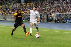 """€ """"Young Boys de Kyiv do dínamo do fósforo de futebol da liga dos campeões, julho Imagem de Stock"""