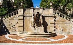 """€ """"Lynchburg, Virginia, USA för monument för världskrig I Arkivfoto"""