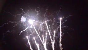 1280†† x†† 720 πυροτεχνήματα pyrotechnie Γαλλία τεχνάσματος απόθεμα βίντεο