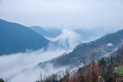 †‹â€ ‹湖北八洞Dazhiping河谷海覆盖 免版税库存图片