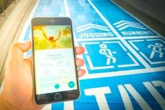 € «août 12,2016 de BANGKOK, THAÏLANDE : Pokemon disparaissent le jeu mobile APP Photo stock