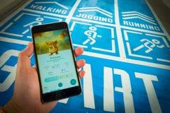 € «août 12,2016 de BANGKOK, THAÏLANDE : Pokemon disparaissent le jeu mobile APP Photos stock