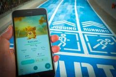 € «août 12,2016 de BANGKOK, THAÏLANDE : Pokemon disparaissent le jeu mobile APP Images libres de droits
