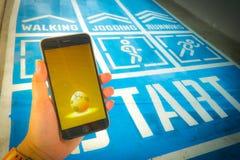 € «août 12,2016 de BANGKOK, THAÏLANDE : Pokemon disparaissent le jeu mobile APP Images stock
