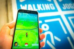 € «août 12,2016 de BANGKOK, THAÏLANDE : Pokemon disparaissent le jeu mobile APP Image stock
