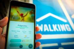 € «août 12,2016 de BANGKOK, THAÏLANDE : Pokemon disparaissent le jeu mobile APP Photographie stock libre de droits