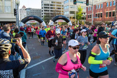 "€ azul ""Roanoke de Ridge Marathon, Virgínia, EUA Foto de Stock Royalty Free"