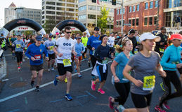 "€ azul ""Roanoke de Ridge Marathon, Virgínia, EUA fotografia de stock"