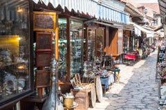 € Bascarsija «старый базар в Сараеве Босния и Герцеговина 12-ого июля 2017 Стоковые Изображения RF