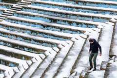 "€ Bukarests, Rumänien ""am 10. Januar: Tineretului-Park-Amphitheater Lizenzfreie Stockbilder"