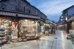 """€ de Bascarsija """"el bazar viejo en Sarajevo Bosnia y Herzegovina el 12 de julio de 2017 imagen de archivo"""