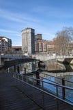 € «06/16/2016 de Bilbao, Vizcaya/Espagne : Bilbao vieux à côté de l'estuaire de Nervion Photographie stock